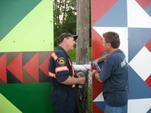 Installing Wardsville Barn Quilts in Ball Park